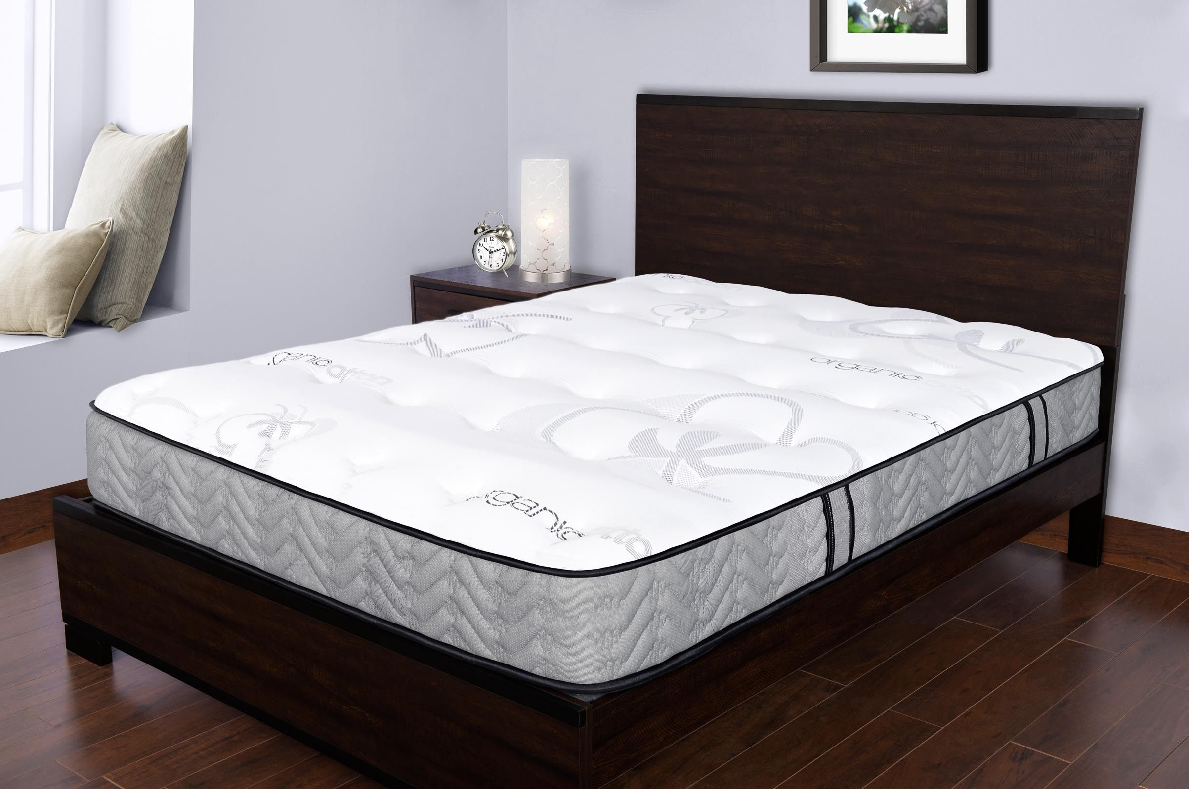 organic medium firm quilted top double sided. Black Bedroom Furniture Sets. Home Design Ideas